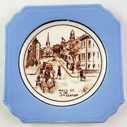 Vintage Syracuse China Opco Mini Plate Wall St In The 17th Century - Americana