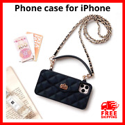 Phone Cover Wallet Case Long Chain Strap Fashion Crossbody Bag For Apple Iphone