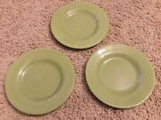 3 New Corsica Solid Salad Plates No Issues Sage Green