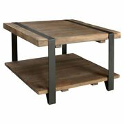 Alaterre Furniture Modesto 27 Reclaimed Wood Square Coffee Table