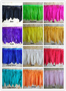Wholesale 1/5/10 Yards Goose Feather Ribbon 6-8inch/15-20cm Natural Floating