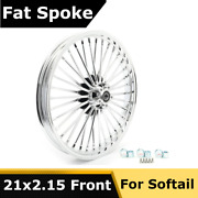 21 Chrome Front Cast Wheel 36 Fat Spokes Tubless Road King Touring Softail Dyna