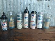 Lot Of 7 Vintage Hygeia Glass Nursing Bottles New With Tags Nos Milk Baby Bottle