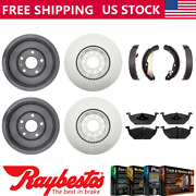 Fits 2012 Vw Volkswagen Jetta Coated Brake Rotors And Drums + Pads And Brake Shoes