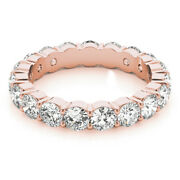 3.40 Carat New Real Diamond Engagement Rings 14k Solid Rose Gold Size 5 6 7 8 9