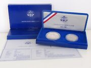 1986 United States Liberty Coins Silver Dollar And Half Dollar Proof Set
