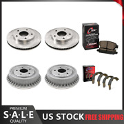 Fits 1992-1993 Chevrolet S10 Brake Rotors And Ceramic Pads + Brake Drums And Shoes