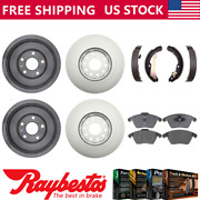 Fit 2012 Volkswagen Jetta Coated Brake Rotors Drums Ceramic Pads And Brake Shoes