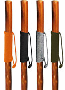 Walking Hiking Hike Stick Cane Staff 55 Pine Wood With Paracord Wrapped Handle