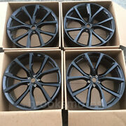 22 5 Spoke Gloss Black Staggered Style Forged Wheels Fit For Jaguar F Pace Svr