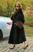 Real Mink Fur Coats For Women Winter Real Fur Jackets With Raccoon Fur Cuff