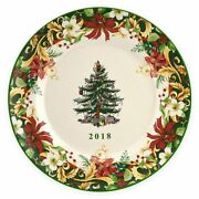 Spode Christmas Tree 2018 Annual Collector Plate Brand New In Box Free Ship