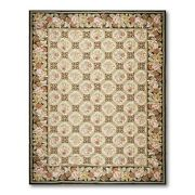 9and039 X 12and039 Asmara Hand Woven Wool French Needlepoint Oriental Area Rug 9x12 Beige