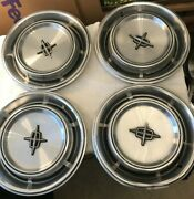 1970 1971 1972 1973 Lincoln Mercury Hubcaps Wheel Covers Vintage Set Of 4