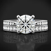 0.85 Carat Real Diamond Engagement Rings 14k Solid White Gold Size 5.5 6.5 7 8 9