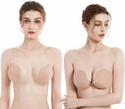 Bothyoung Sticky Adhesive Invisible Bra, Push Up Strapless Backless Silicon Bra,