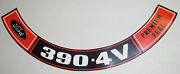 Ford Mustang 390 4v Regular Fuel Air Cleaner Decal 479 9.95 W/shiping