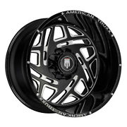 American Truxx At1904 Cosmos 24x14 8x170 Offset -76 Black/milled Quantity Of 4