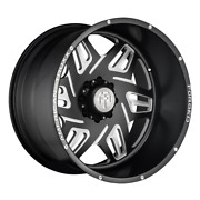American Truxx Atf1908 Orion 24x14 6x139.7 Et-76 Matte Black/milled Qty Of 1