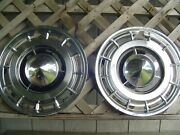 Two 1960 60 Buick Lesabre Electra Hubcaps Wheel Covers Center Caps Vintage