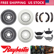 Fits 2012 Vw Volkswagen Jetta Coated Brake Rotors And Drums Metallic Pads And Shoes