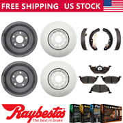For 2012 Vw Volkswagen Jetta Coated Brake Rotors And Metallic Pads + Drums And Shoes
