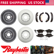 Fits 2012 Vw Volkswagen Jetta Coated Brake Rotors And Pads + Brake Drums And Shoes