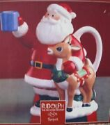Lenox Rudolph The Red Nosed Reindeer And Santa Teapot New In The Box 10