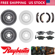 Fits 2012 Volkswagen Jetta Coated Brake Rotors And Drums Ceramic Pads Brake Shoes