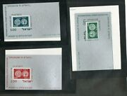 Israel Scott 532a-534a Jerusalem And03973 Ss Completely Imperforate Set Mnh