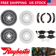 Fits 2012 Volkswagen Jetta Coated Brake Rotors And Ceramic Pads Brake Drums Shoes