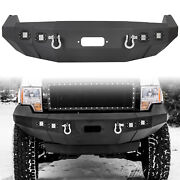 For 2009-2014 Ford F150 Front Bumper Heavy Duty Replacement Winch Ready