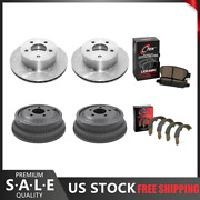 Fits 93-94 Jeep Grand Cherokee Brake Rotors And Ceramic Pads + Brake Drums And Shoes