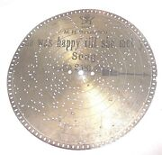 9 1/2 Stella Music Box Metal Disc 2581 , She Was Happy Till She Met You