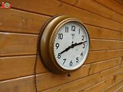 Vintage 1930-40's Early Smith Sectric Wall Clock. Lovely Original Metal Clock