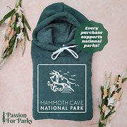 Mammoth Cave National Park Sponge Fleece Hoodie   We Donate To Park Conservation