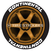 White Continental Tire Stickers - 1.0 For 19 20 21 Wheels 8 Decals