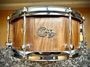 Cazz Custom Robinia Wood Solid Stave 13andrdquo X 6andrdquo Snare Drum - Hand Made In Germany