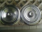 Two 1965 65 Ford Thunderbird T Bird Hubcaps Wheel Covers Center Caps Vintage