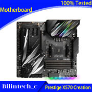 For Msi Prestige X570 Creation Game Motherboard Am4 Supports 3950x Ddr4 32g