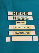 1975 And 1976 Hess Truck Stickers