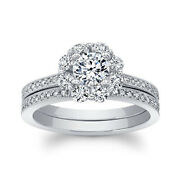 Round Cut 1.26 Ct. Moissanite Engagement Rings 14k Solid White Gold Size 5 6 7 8