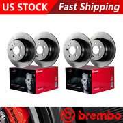 Fits 2013 Mercedes-benz S350 Front + Rear Coated Brake Rotors - Brembo Oe