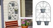 Trellis For Potted Plants Butterfly Wall Mount Climbing Hanging Stand Flower Pot
