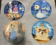 Disney Cinderella Edwin M. Knowles Collector Plates Collection Of 4.