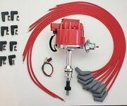 Ford 351w Windsor Hei Distributor And Red Universal Spark Plug Wires Made In Usa
