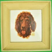 Abercrombie And Fitch Hand-painted Poodle Head By Frank Childers Framed Tile