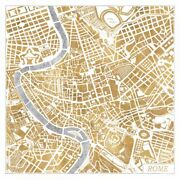 Art-print-marshall-travel-gilded-rome-map-on-paper-canvas-or-framed