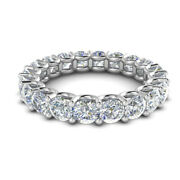 2.00 Ct Real Diamond Wedding Eternity Band For Womenand039s Solid 950 Platinum 7 8 9