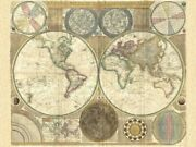 Art-print-dunn-vintage-double-hemisphere-map-of-the-world-1794-on-paper-canvas-